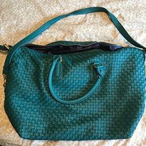 Deux Lux • Weaved Teal Overnight Bag